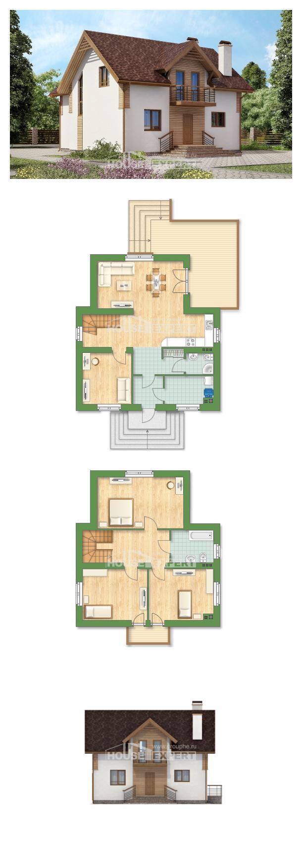 Проект дома 150-009-П    House Expert